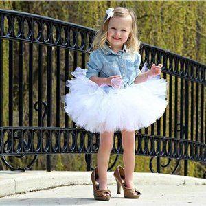 Pure White 3-Layer Tutu Skirt